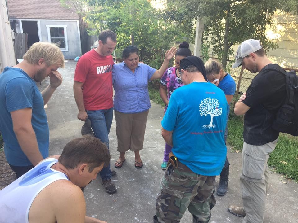 Though our team has been working hard this week to meet physical needs, they've also made time to minister to the spiritual needs of the people they are serving.