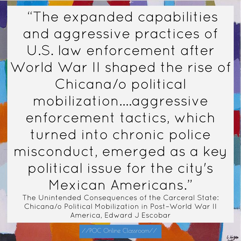 Rad reading the unintended consequences of the carceral state rad reading the unintended consequences of the carceral state chicanao political mobilization in postworld war ii america poc online classroom fandeluxe Gallery