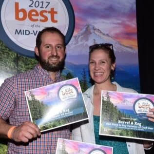 Thank you for voting us one of Salem's Best places to buy beer, taste beer and get your growlers filled! 2017 Statesman Journal Best of the mid-valley awards.