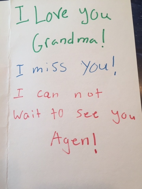 (Seven-year-old Maddie wrote this. I can't wait to see her AGEN too!)