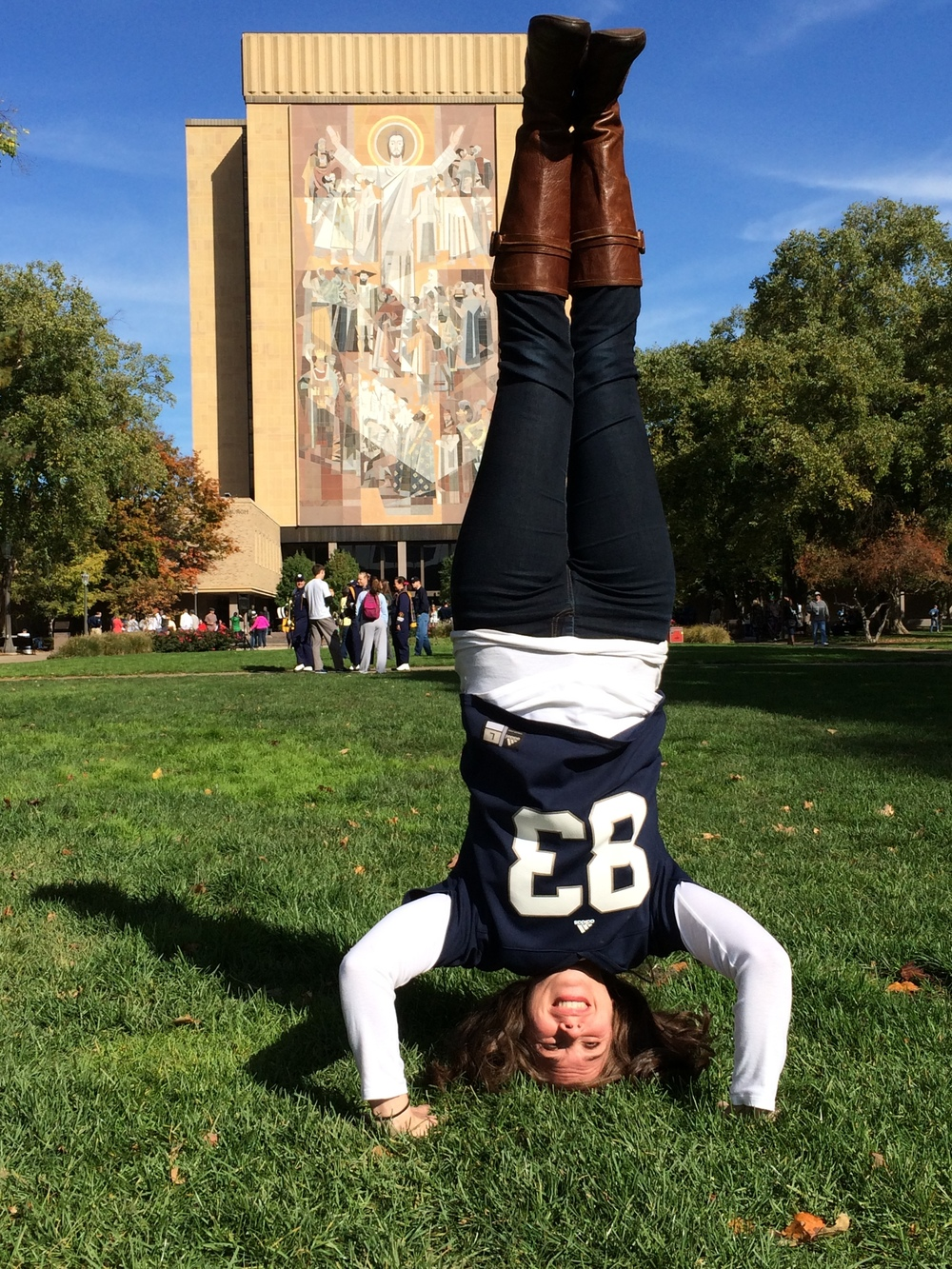 god.  country.  notre dame.  and headstands.