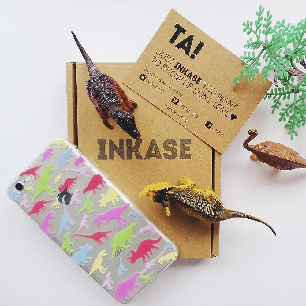 Inkase dinosaur iPhone case, with box.