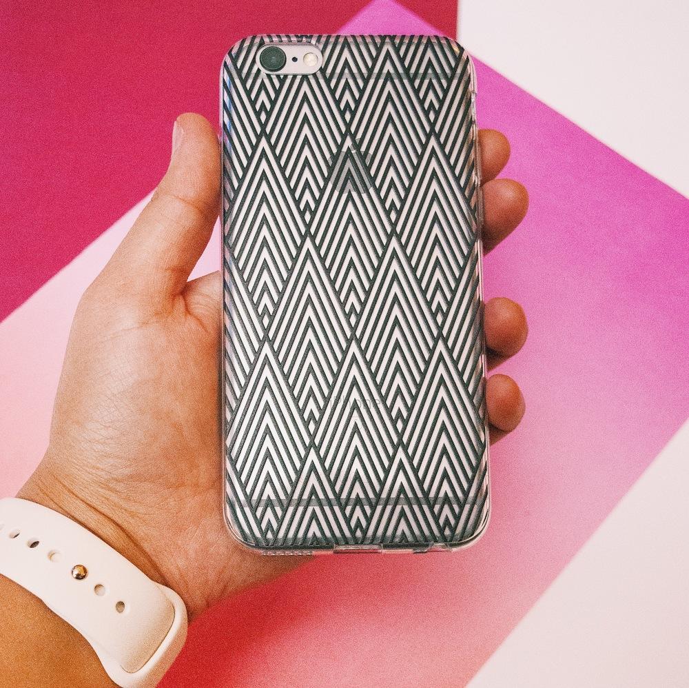 Inkase geometric black line iPhone case