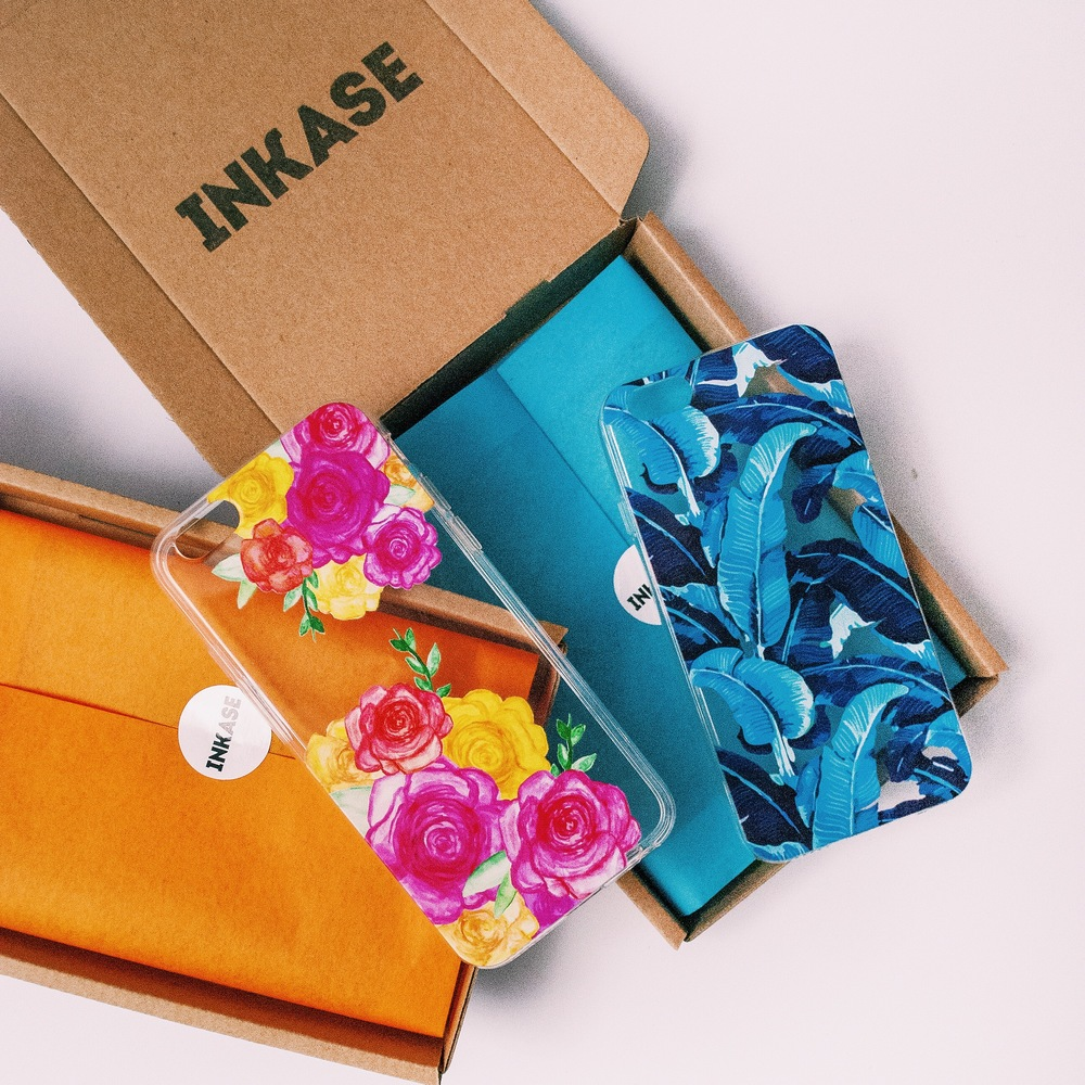 Inkase Phone Cases with Packaging boxes.