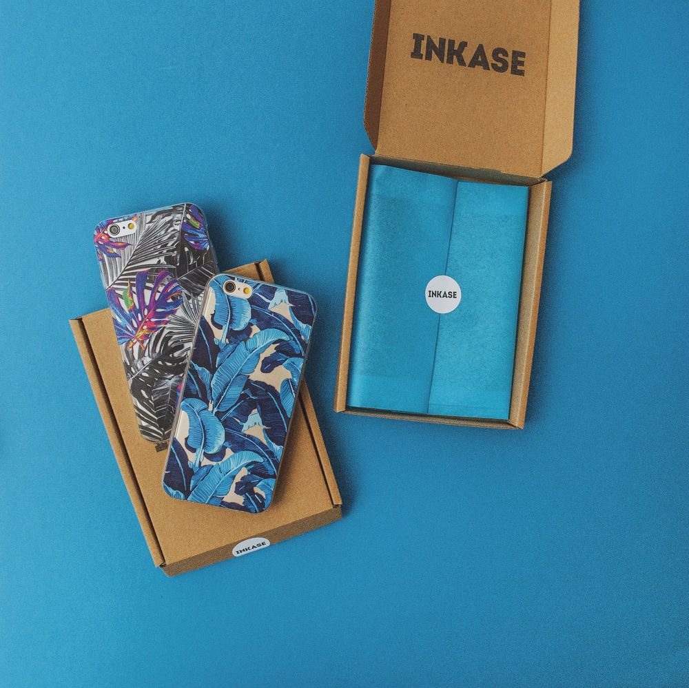 Inkase Tropical Leaf Phone Cases with Packaging Boxes