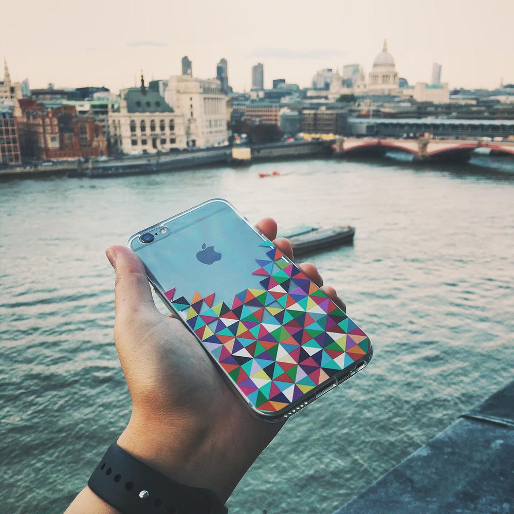 Inkase Colour Geometric Phone Case in London Landscape