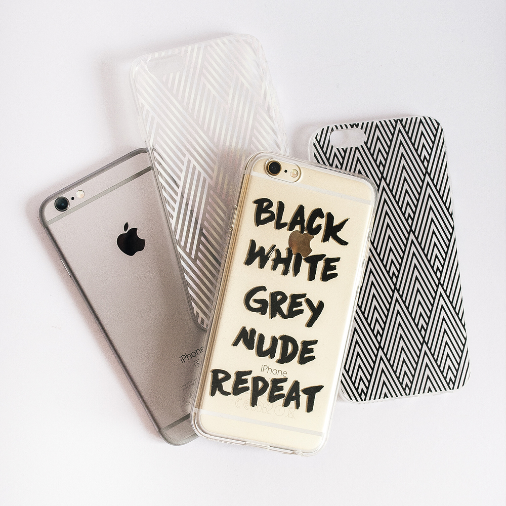 Inkase Repeat, Criss Cross, and Black Diamond Phone Cases