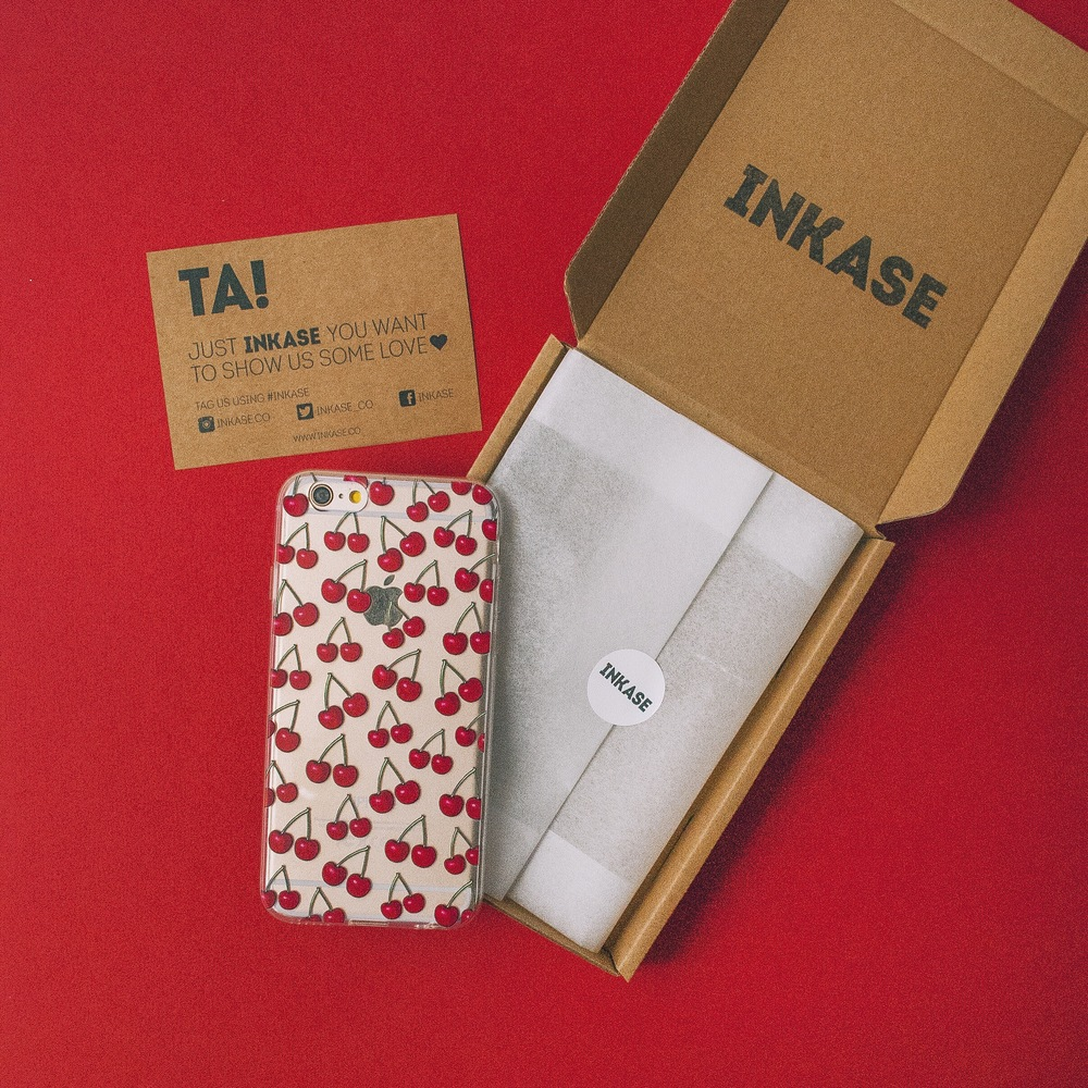 Inkase Cherry Phone Case with Packaging Box