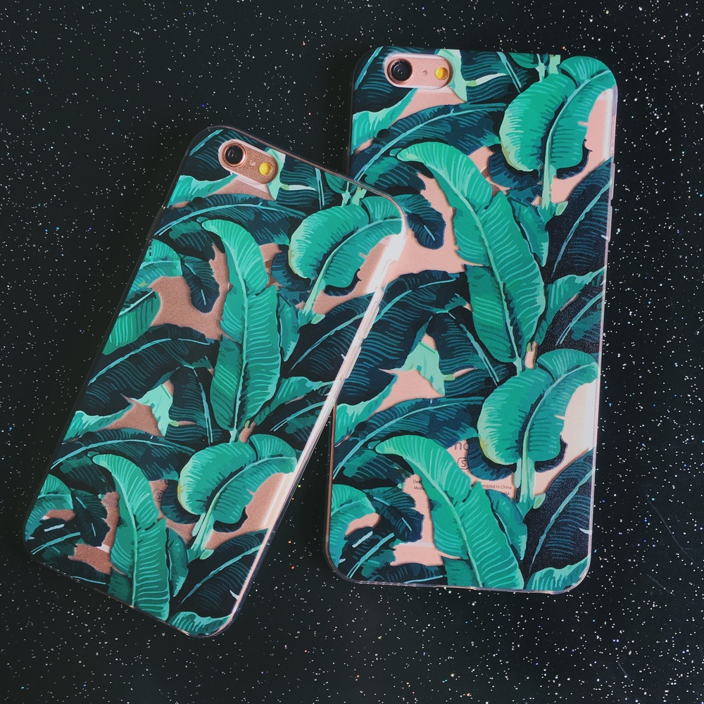 Inkase Tropical Leaf case on iPhone 6 and 6 Plus
