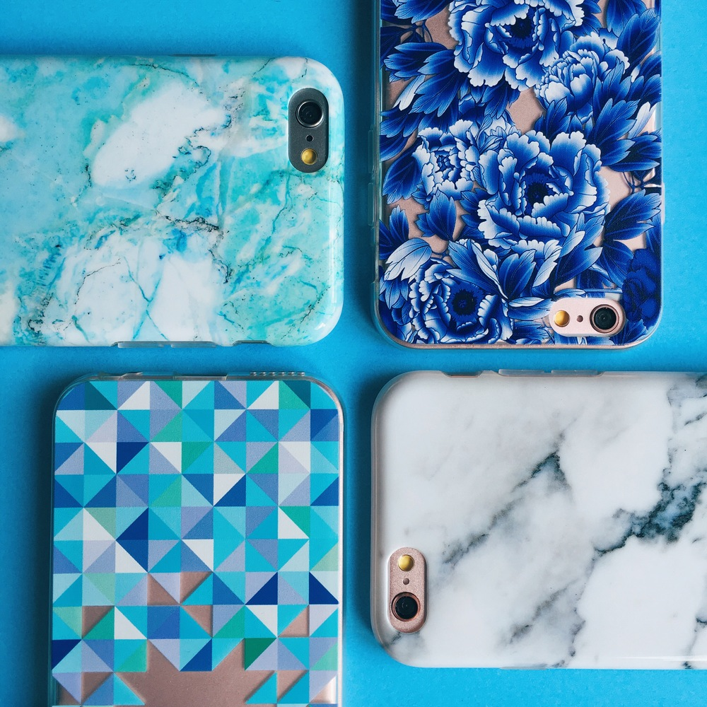 Inkase marble, floral and geometric phone cases