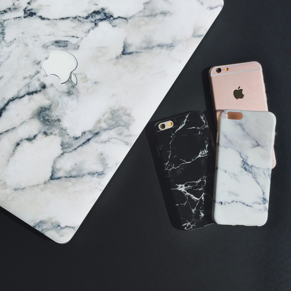 Inkase Marble macbook skin and phone case