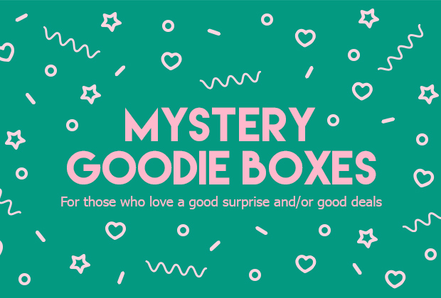 mystery goodie boxes - iPhone cases, samsung cases, stationery, stickers