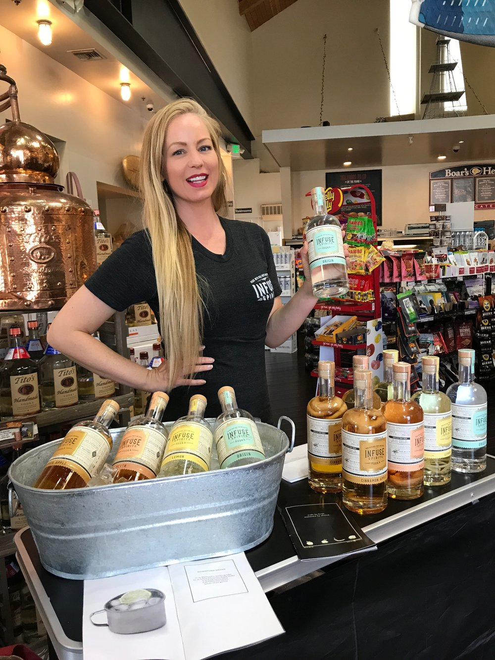 INFUSE SPIRITS SAMPLING PROGRAM  - Brand Activation, Consumer Engagement, Retail Samplings, Data Collection, Training, Recruiting, Account Management, Sales, Logistics Management.