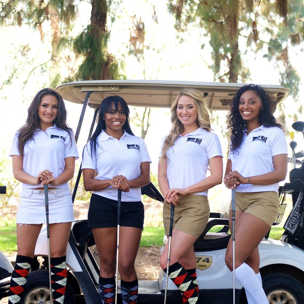 GALA GOLF GIRLS - Gala's golf girls are the perfect compliments to your next tournament. We facilitate games such as helicopter drops, mulligans, and station hostesses on for donation appeals to add to your fundraiser goals.