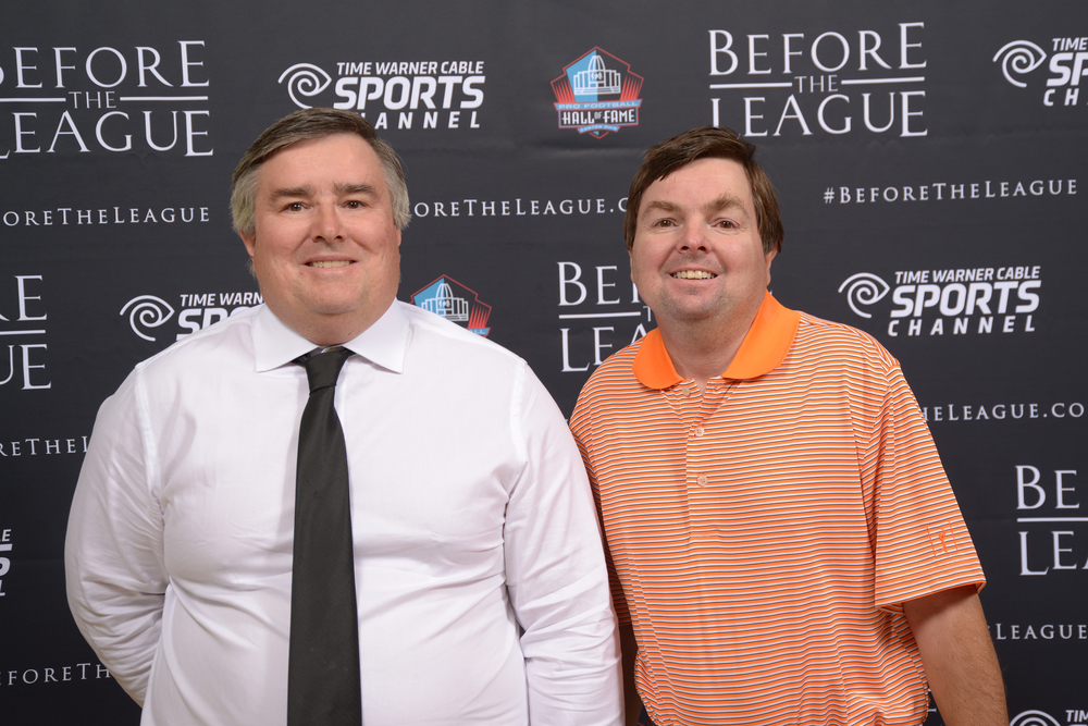 Jim Ridgeway, Mark Ridgeway attend the Before The League documentary premiere on October 27, 2015 at the Pro Football Hall of Fame in Canton, Ohio.