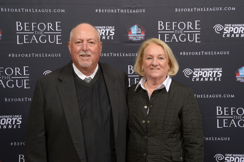 Jim and Beth Ann Kennedy attend the Before The League documentary premiere on October 27, 2015 at the Pro Football Hall of Fame in Canton, Ohio.