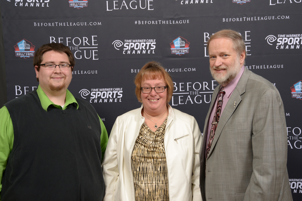 Adam Rogers, Sandy L. Johnson, Dr. Charles Bailey attend the Before The League documentary premiere on October 27, 2015 at the Pro Football Hall of Fame in Canton, Ohio.