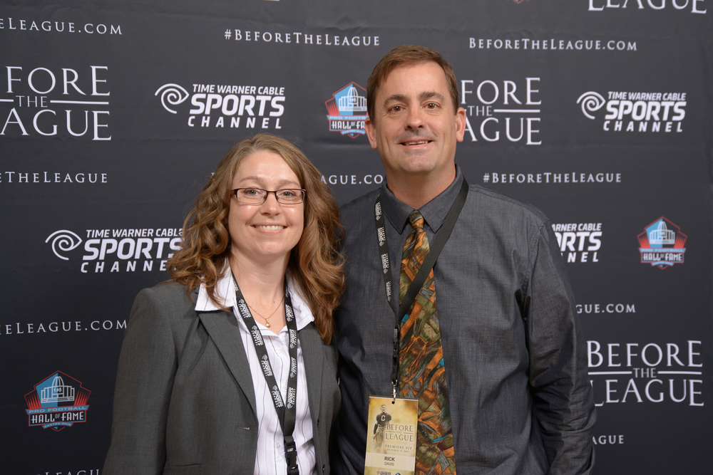 Jessi and Rick Davis attend the Before The League documentary premiere on October 27, 2015 at the Pro Football Hall of Fame in Canton, Ohio.