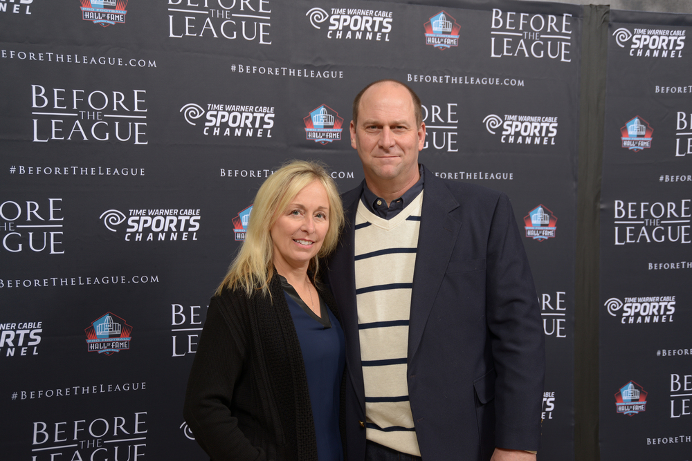 Lisa and Mark Fenner attend the Before The League documentary premiere on October 27, 2015 at the Pro Football Hall of Fame in Canton, Ohio.