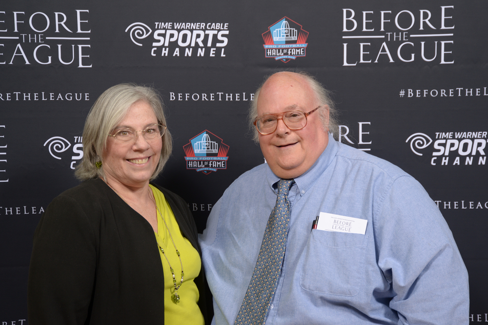 Virginia and Dan Gehres attend the Before The League documentary premiere on October 27, 2015 at the Pro Football Hall of Fame in Canton, Ohio.