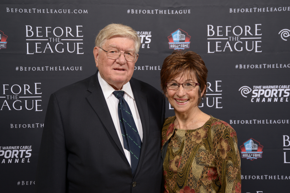 Keith and Mariann McClellan attend the Before The League documentary premiere on October 27, 2015 at the Pro Football Hall of Fame in Canton, Ohio.