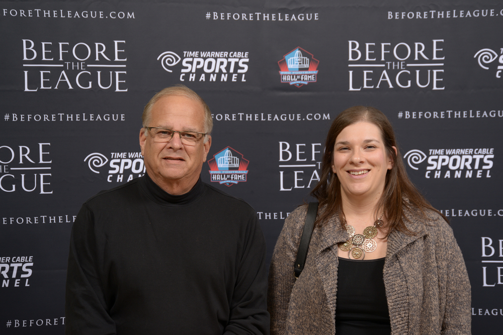 Stan Kohn and Erin Nauert at the Before The League documentary premiere on October 27, 2015 at the Pro Football Hall of Fame in Canton, Ohio.