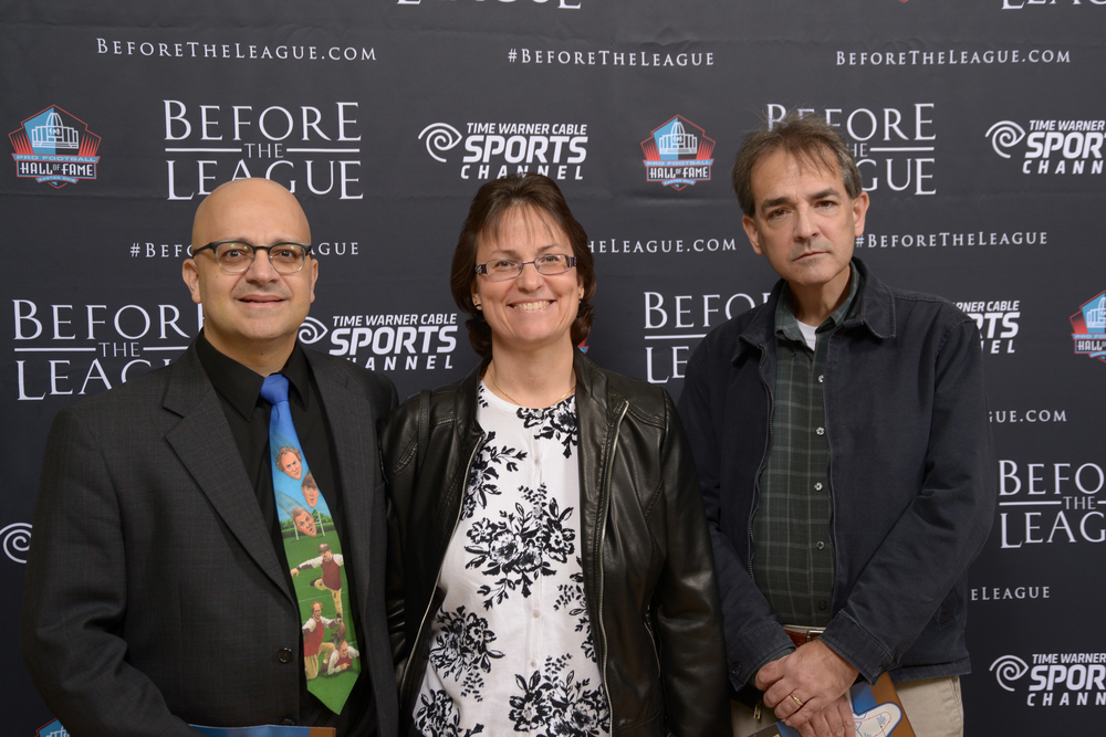 Thomas & Margaret Maroon, Craig Holbert at the Before The League documentary premiere on October 27, 2015 at the Pro Football Hall of Fame in Canton, Ohio.