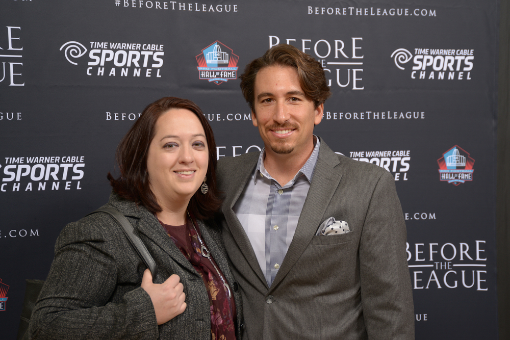 Deb and Brian Peluso at the Before The League documentary premiere on October 27, 2015 at the Pro Football Hall of Fame in Canton, Ohio.