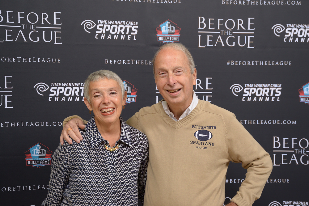 Michael McConnell and guest at the Before The League documentary premiere on October 27, 2015 at the Pro Football Hall of Fame in Canton, Ohio.