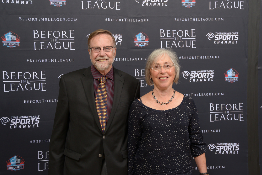 Rick and Sue Momeyer at the Before The League documentary premiere on October 27, 2015 at the Pro Football Hall of Fame in Canton, Ohio.
