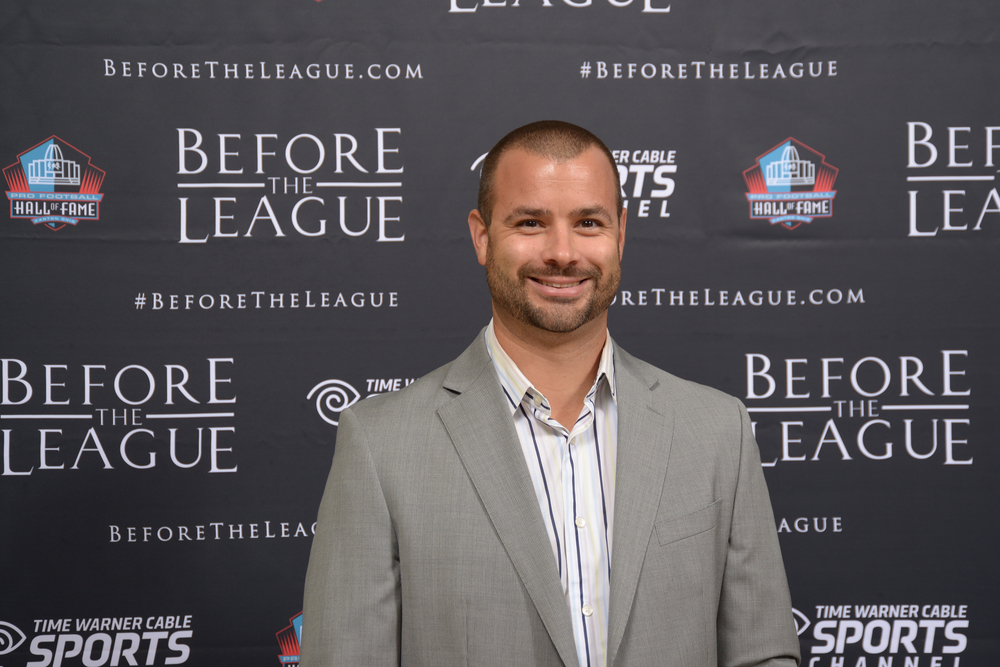 Chris Primavera attend the Before The League documentary premiere on October 27, 2015 at the Pro Football Hall of Fame in Canton, Ohio.