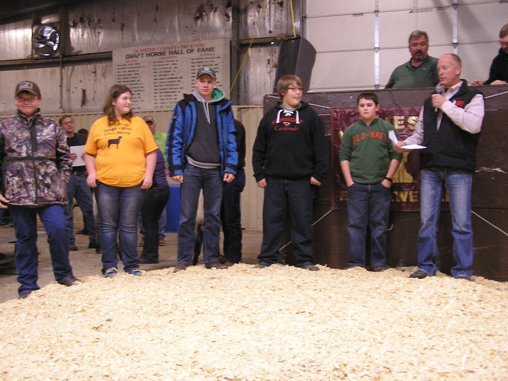 2015 Minnesota Bred Ewe Sale Scholarship Winners! Tanner Marquardt- Mabel, MN; Hannah Herrig- Slayton, MN; Jared Christensen- Tyler, MN; Alex Wannarka- Blue Earth, MN; Logan Barber, Worthington, MN; Presented by Tom Bobendrier