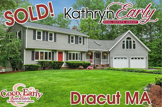 This beautiful home just got itself some new owners! Congrats to the Sellers for maintaining a pretty perfect home and congrats to the Buyers for their recent purchase. Wishing everyone health and happiness forever.  #thekathrynearlygroup #cocoearlyandassociates #realtor #realestate #marealtor #mahomes #dracuthomes