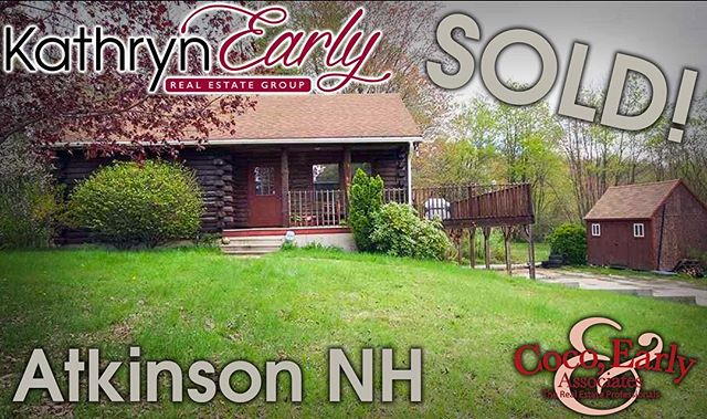 Sold! Congrats to a familiar client of ours, Keith, for closing on this log home in Atkinson, NH. Not only is this house super cute, but it sits on a 4 acre lot! Enjoy your new home and distant neighbors! #TheKathrynEarlyGroup #realtor #realestate #nhhomes #nhrealestate #cocoearly #cocoearlyandassociates