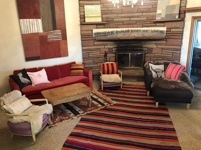 Pretty happy with my Moroccan rugs and cushions we made from rugs #morocco #cushions #stripes #interiordesign #rugcushion #lovemorocco