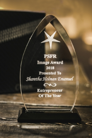 It's a beautiful award...and I was completely surprised to receive it!