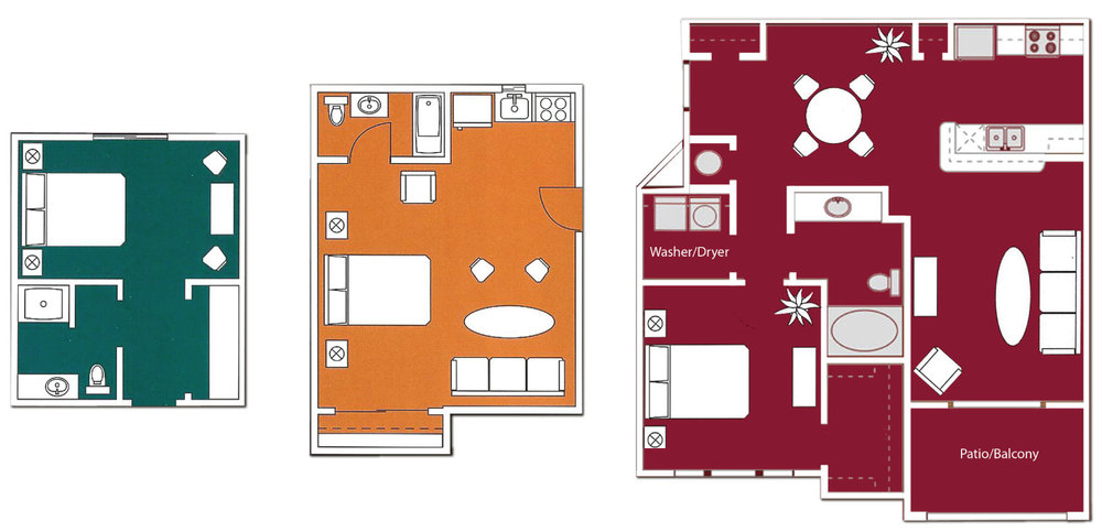 ExecuStay Midwest Apartment Floor Plan Comparison