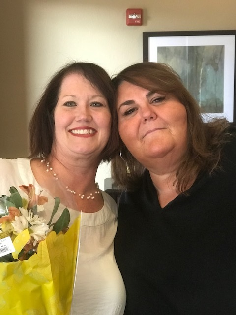 Briggetta Jessee with her ExecuStay Account Manager, Stephanie Dickerson.