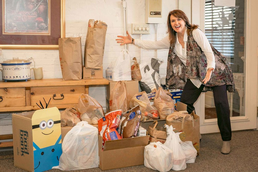 Account Manager Lou Calkins with the Wichita, KS Move for Hunger Food Donations!