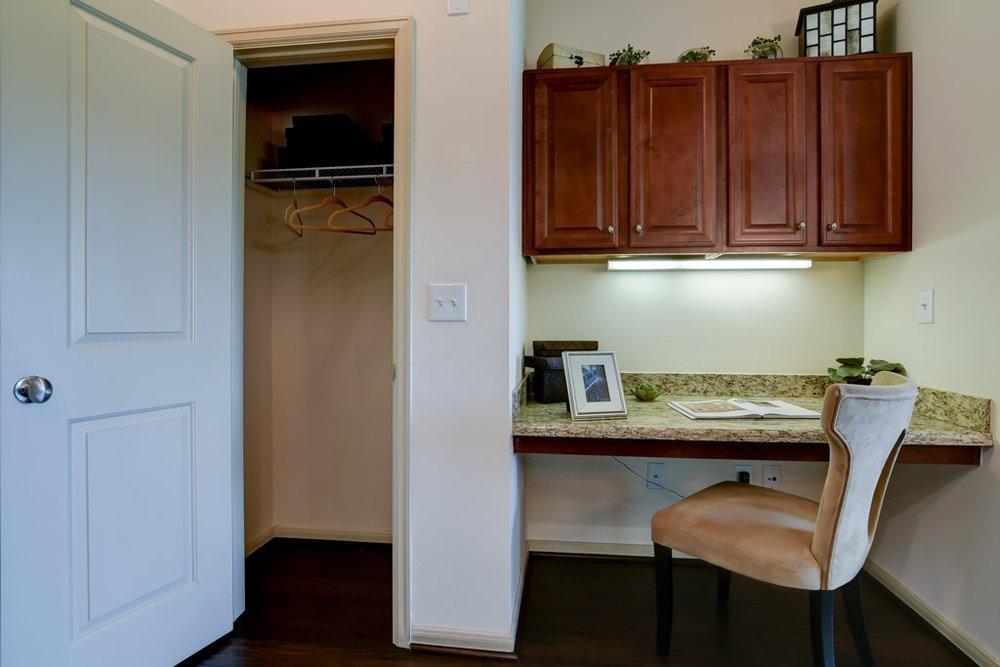 Built-in Desk Space & Closet