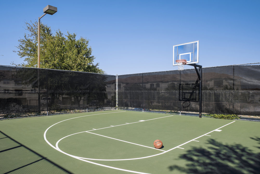 Lighted Basketball Court