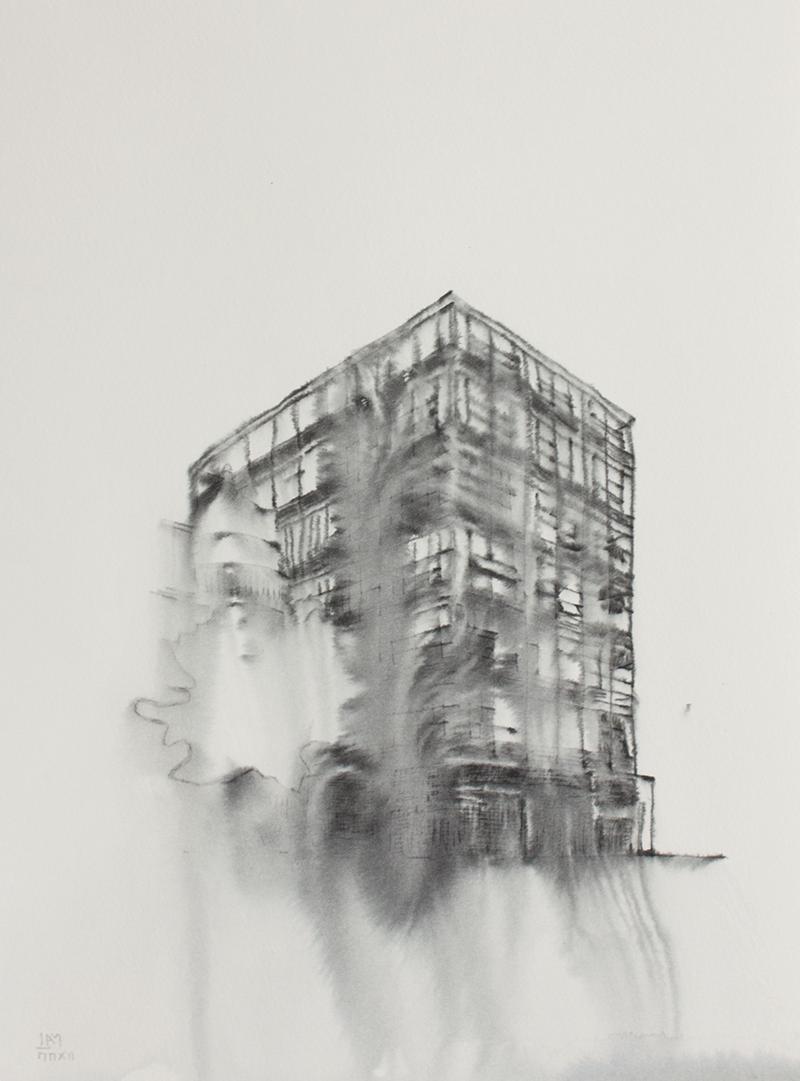 Fantasmagoría XXIV  , 2012, tinta sobre papel, 31 x 23,5 cm.
