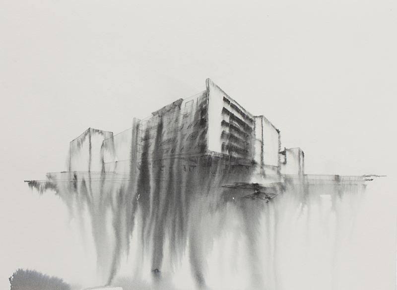 Fantasmagoría XXXII  , 2012, tinta sobre papel.