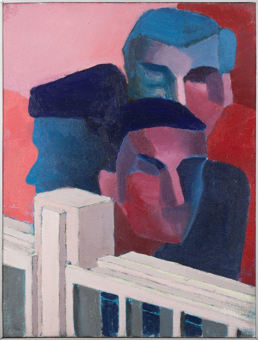 Ante el futuro 3    ,  2015, óleo sobre tela, 43 x 33 cm.