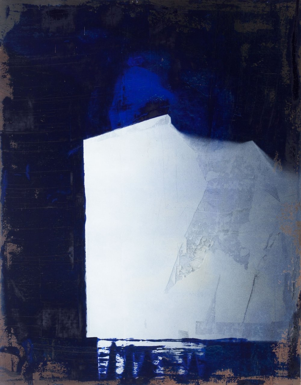1952,  2013, óleo sobre tela y pintura en aerosol, 90 x 70 cm.