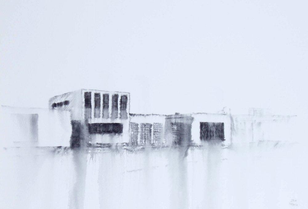 Fantasmagoría XLI  , 2013, tinta sobre papel, 35 x 50 cm.