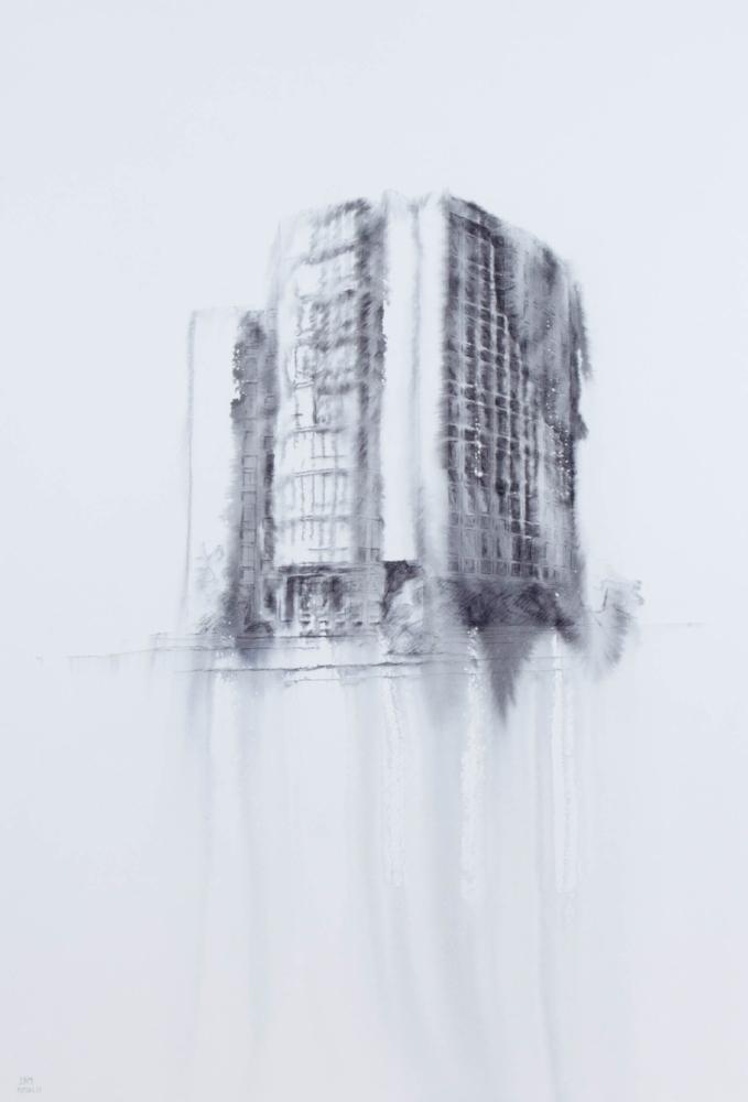 Fantasmagoría XXXVIII  , 2013, tinta sobre papel, 70 x 50 cm.