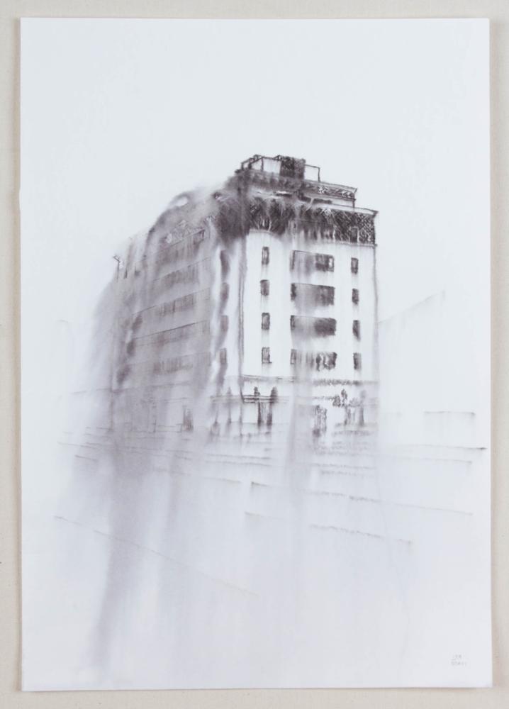 Fantasmagoría XLVIII  , 2013, tinta sobre papel, 50 x 35 cm.