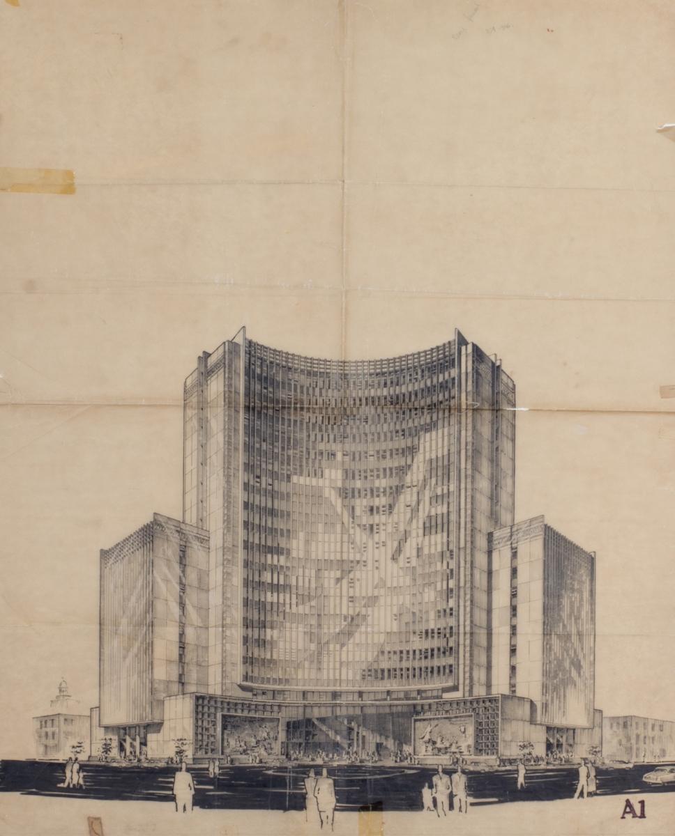 Dibujo de Enrique Seoane.