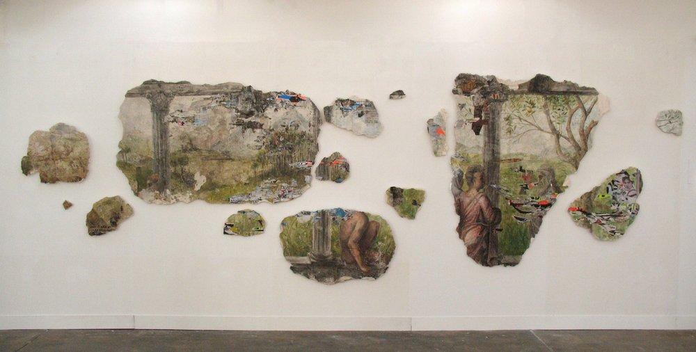Ruinas artificiales, 2008, Varios materiales sobre planchas de yeso, medidas variables.